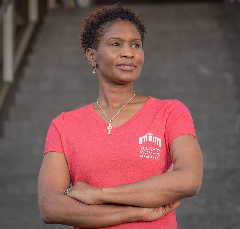 Women's Red V Neck T-Shirt - Medium