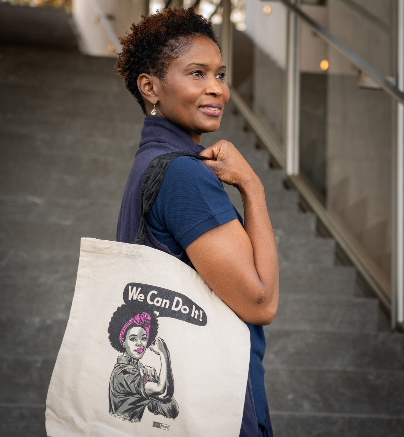 African American Rosie Canvas Tote