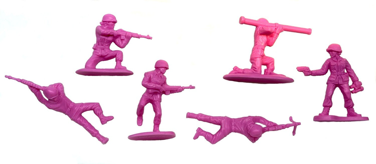 Pink Plastic Soldiers (6 pc)