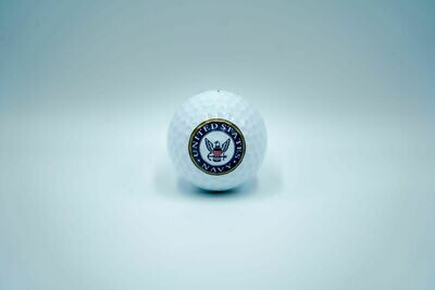Navy Golf Ball (White)