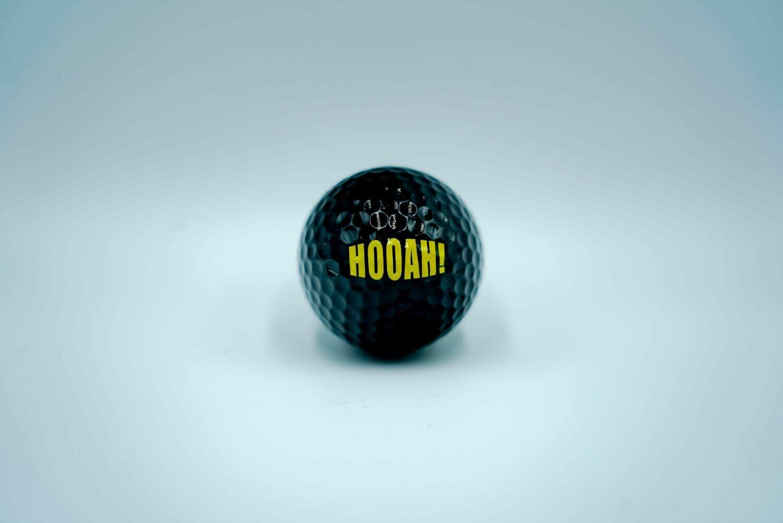"""Army """"Hooah!"""" Golf Ball ( Black)"""
