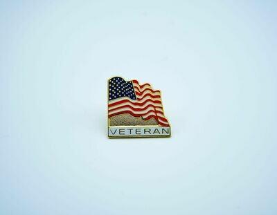 American Flag w/ Veteran Pin
