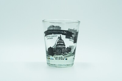 D.C. 6 Monuments Shotglass (Black)