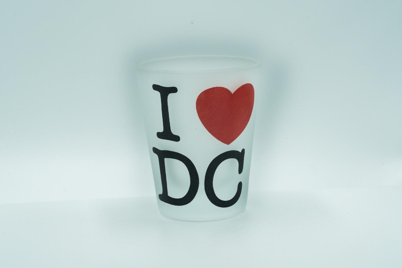 I Love D.C. Shotglass (Red Heart)
