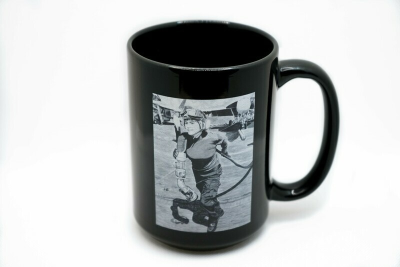 Face of Courage Navy Mug