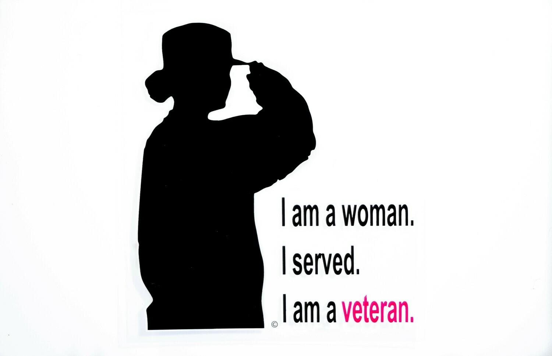 Woman Veteran Silhoutte Decal
