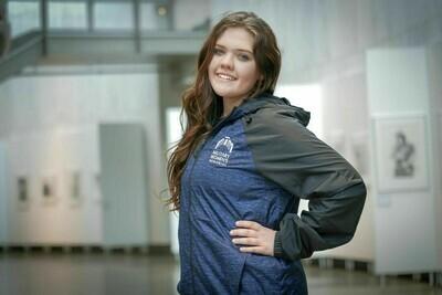 Women's BK/BL Wind Jacket - XL