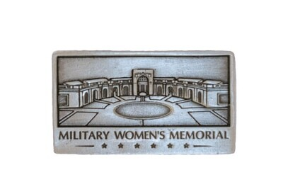 Military Women's Memorial Pewter Magnet