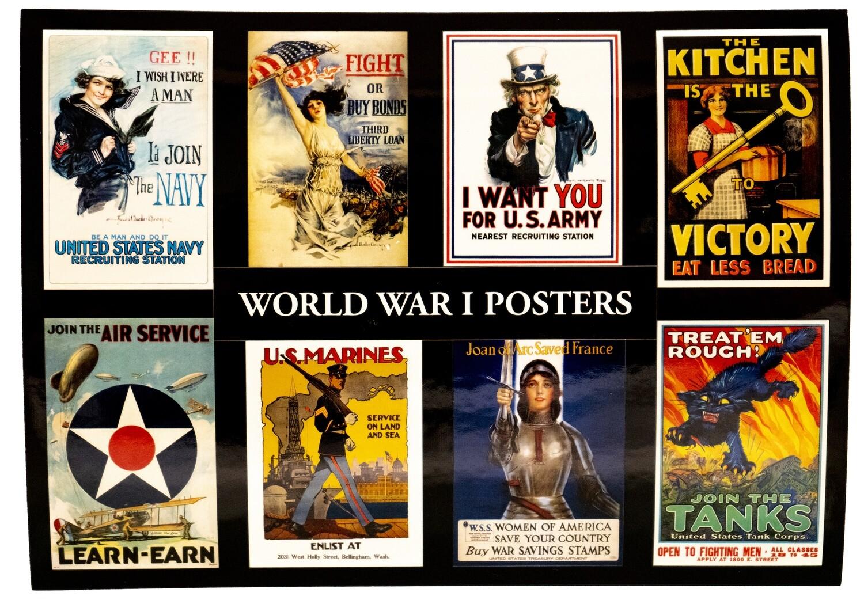 Sticker Postcard WWI