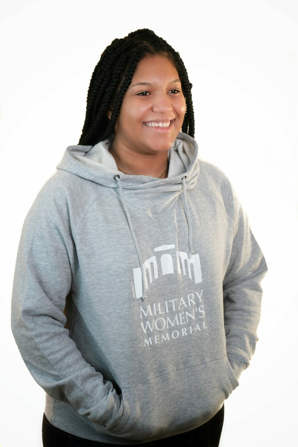 Light Grey Pullover Hoodie - Small