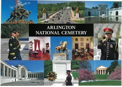 Sticker Postcard Arlington Cemetery