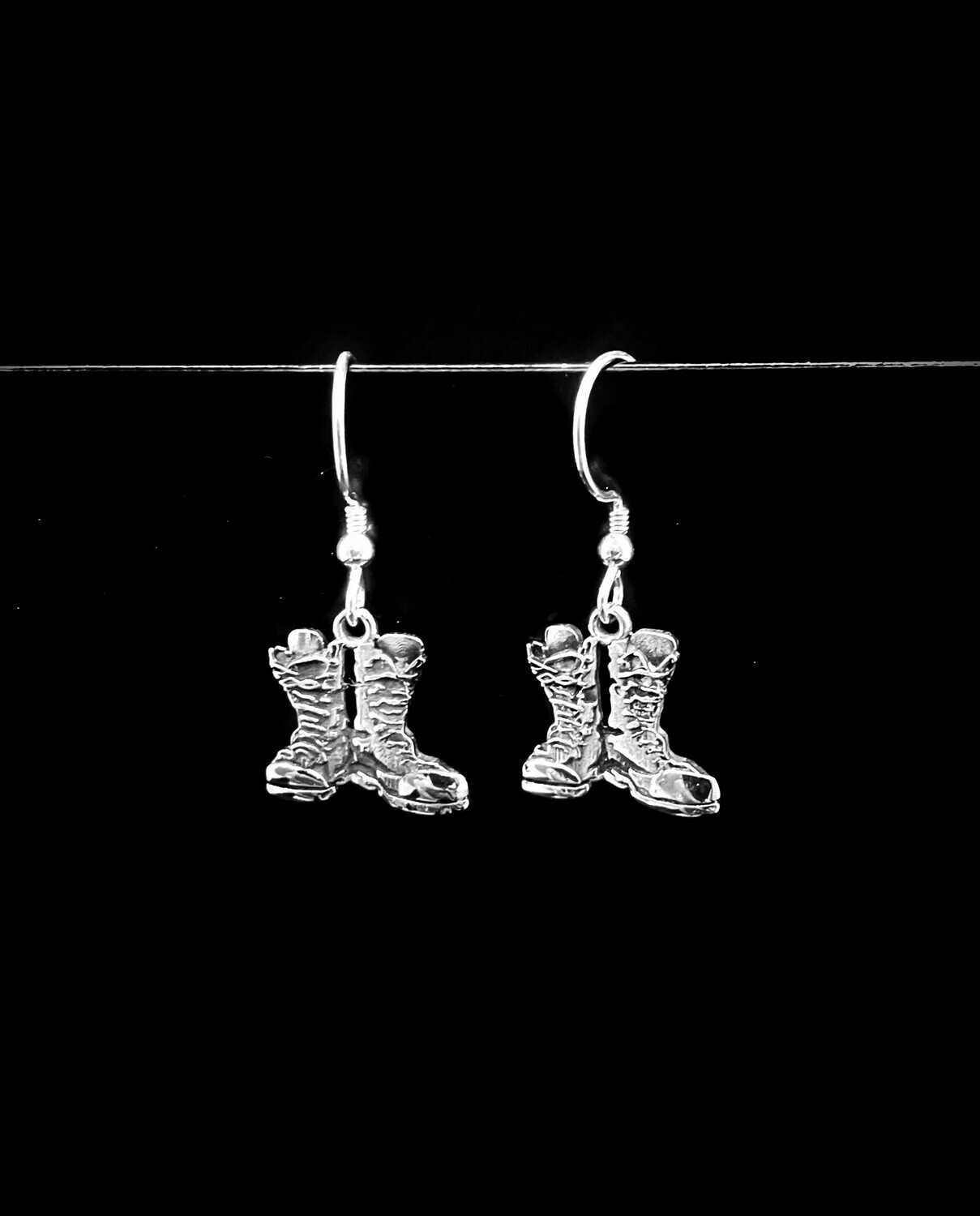 Antiqued Boots Earrings First Light Stainless 15mm