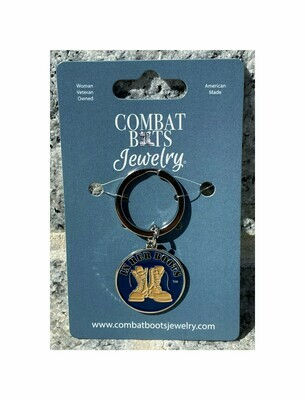 Navy Boots Keychain