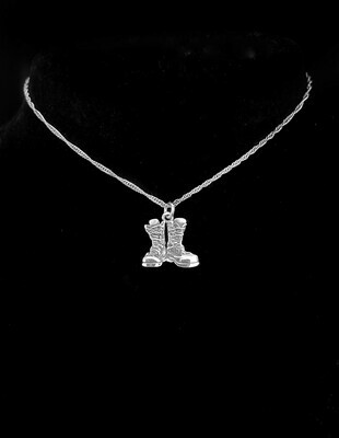 Firecracker Necklace Sterling Silver Boots 15mm