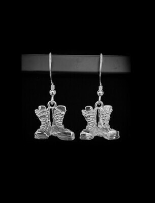 First Light Earrings Boots Sterling Silver 15mm