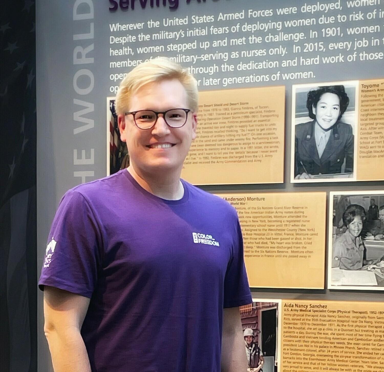 Large Men's CoF Purple Crew Neck T-Shirt