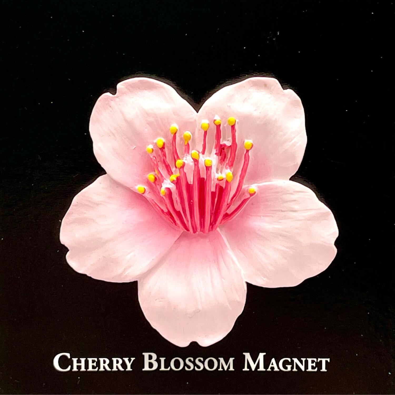 Resin Magnet Cherry Blossom