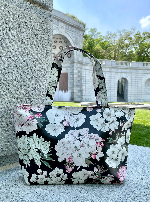 Cherry Blossom Vinyl Bag