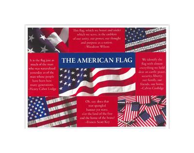 Sticker Postcard US Flag