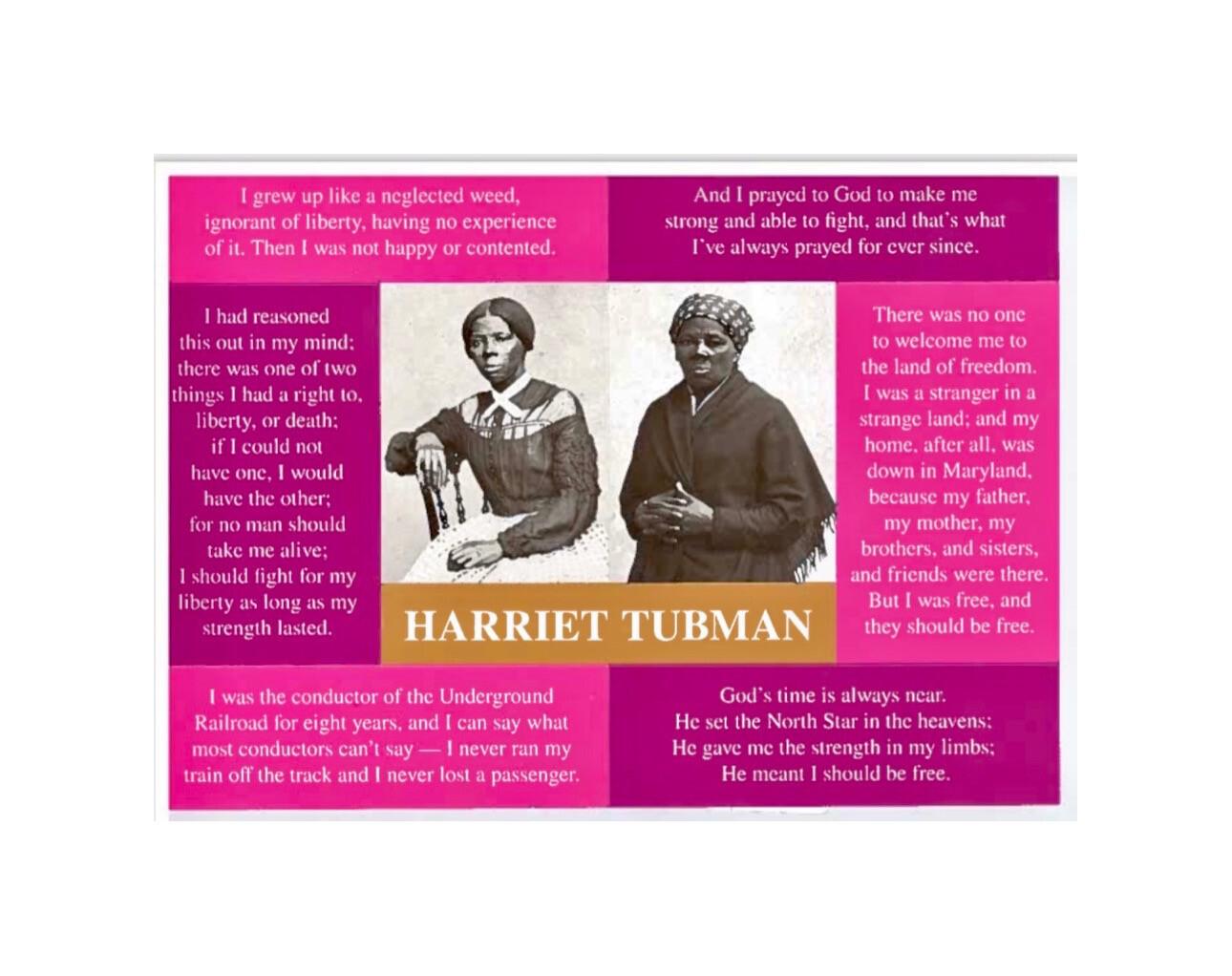 Sticker Postcard Harriet Tubman