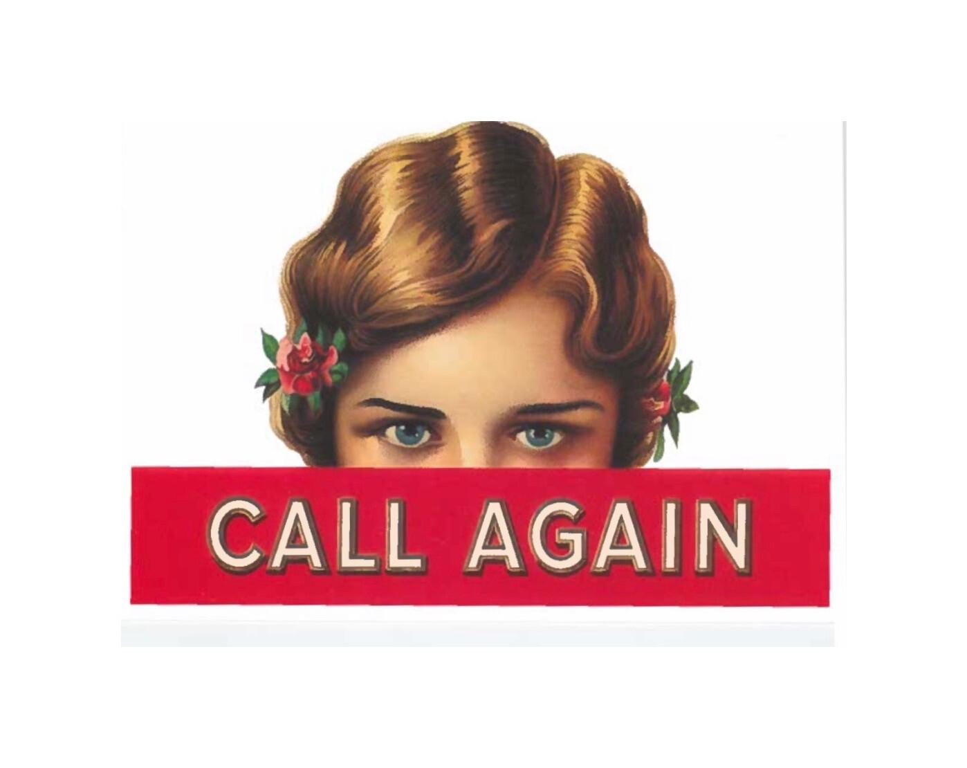 Call Again Postcard