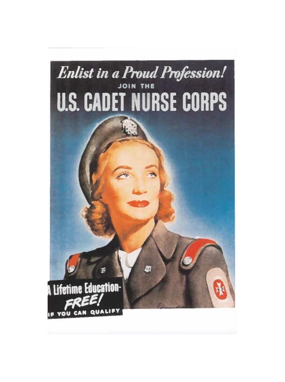Cadet Nurse Corps Postcard