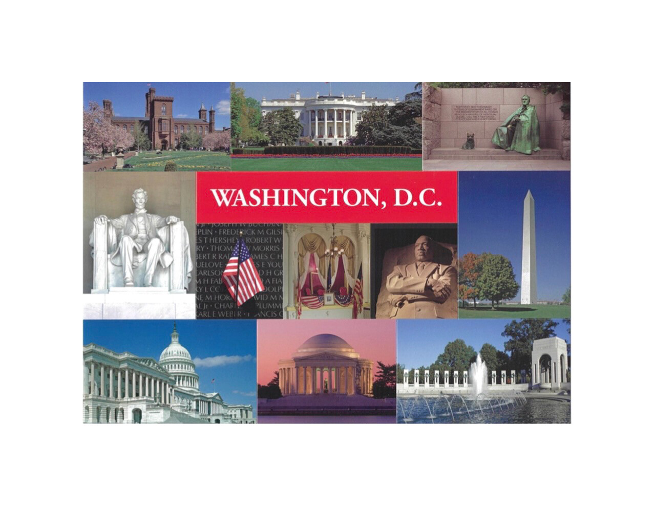 Sticker Postcard Washington DC