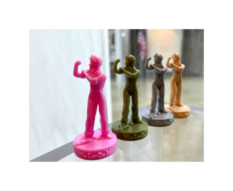 4 Rosie Plastic Statuettes