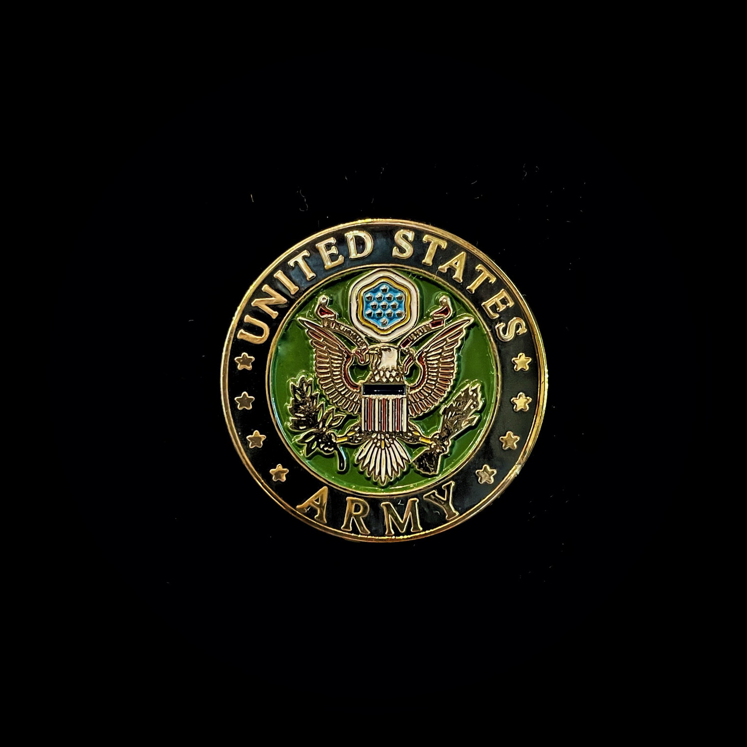 Round Army Pin