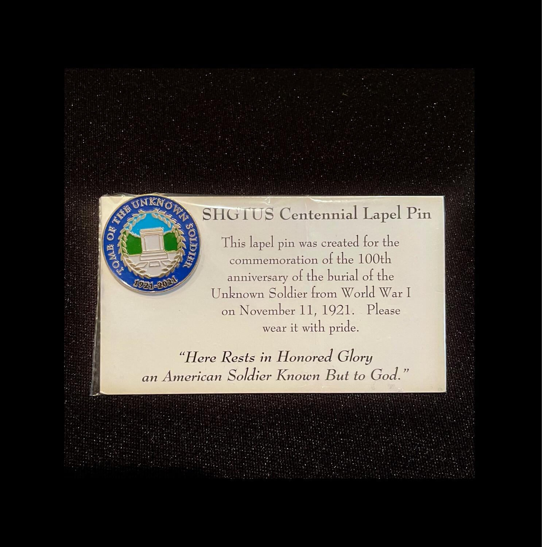 Tomb Centennial Lapel Pin