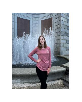 Larg Blush Rose Long Sleeve Logo T-Shirt