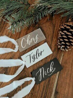 Set of 5 Acrylic Gift / Stocking Tags