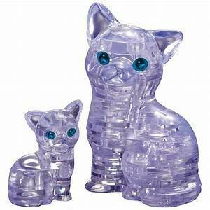 Crystal Puzzle Cat