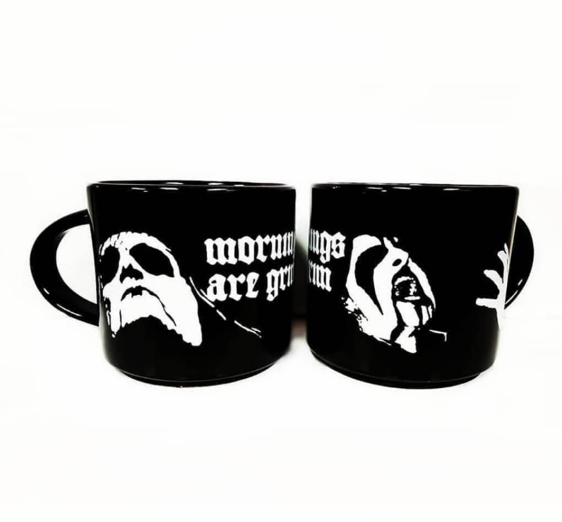Mornings Are Grim 16 Ounce Mugs