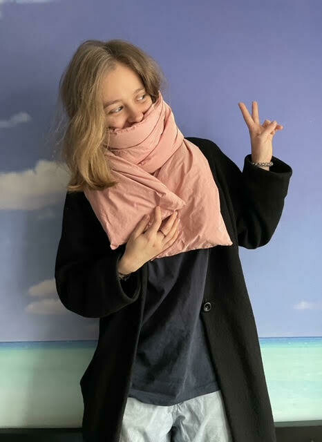 LABAKHUA Лососевый дутый шарф