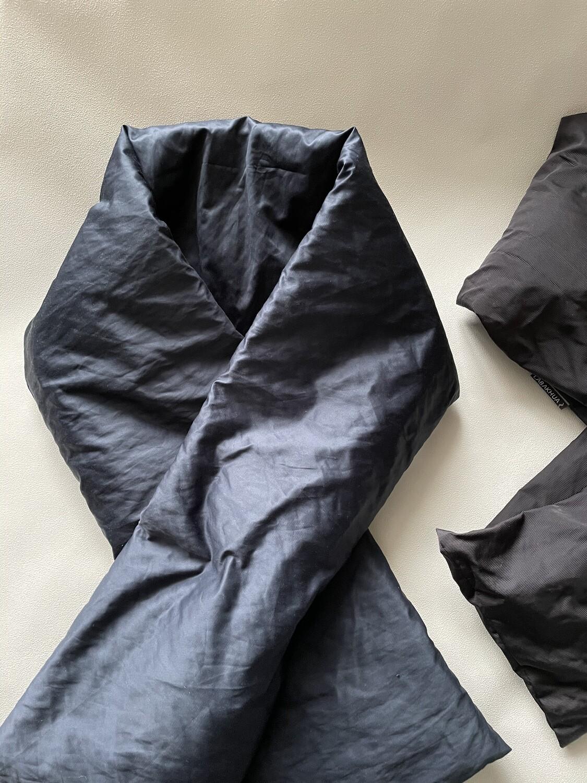 LABAKHUA Сине-чёрный дутый шарф