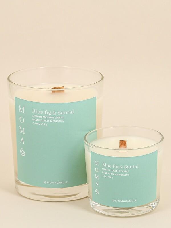 Ароматическая свеча MOMACANDLE из кокосового воска