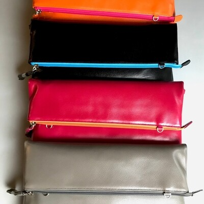 Day By Day Mini Leather Clutch