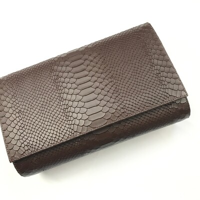Classic Convertible Leather Clutch