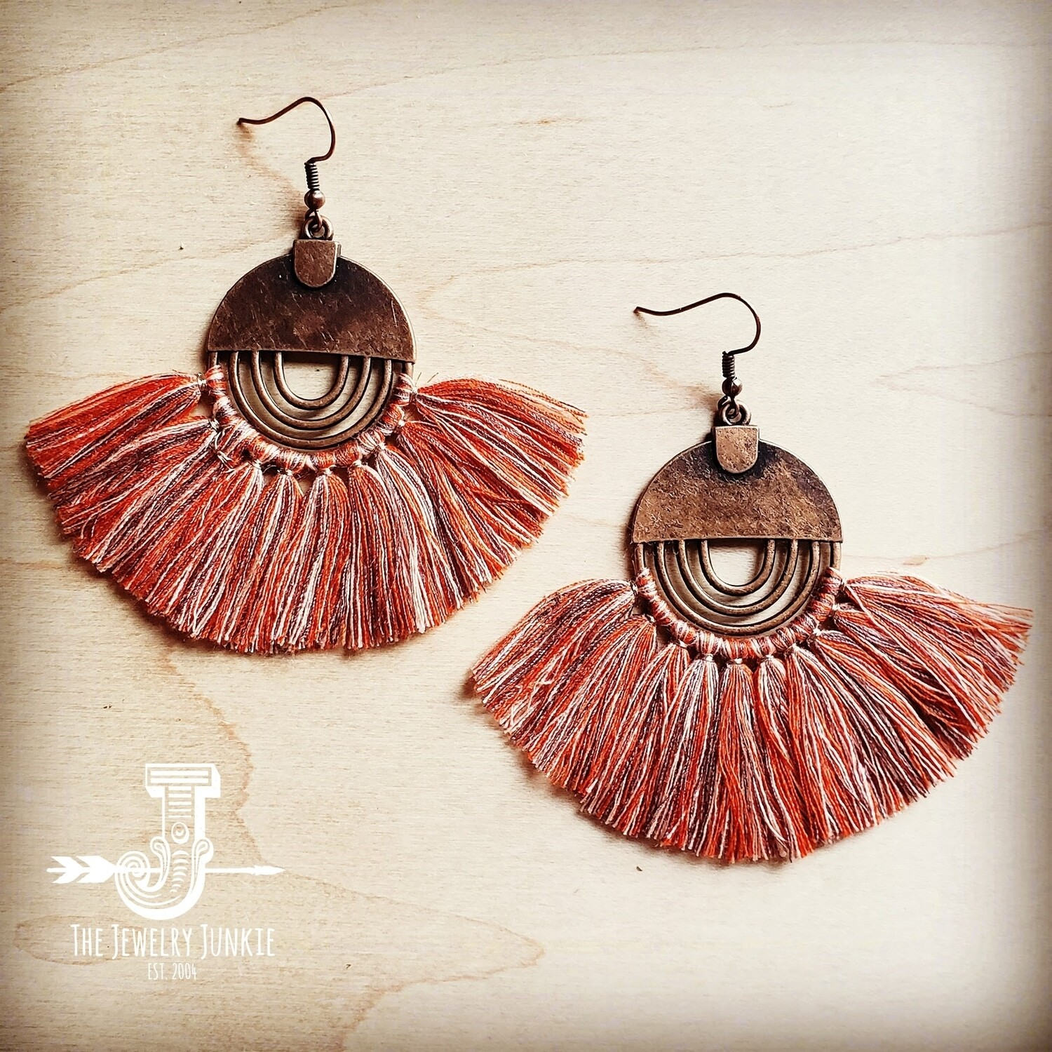 Glam Fan Tassel Earrings