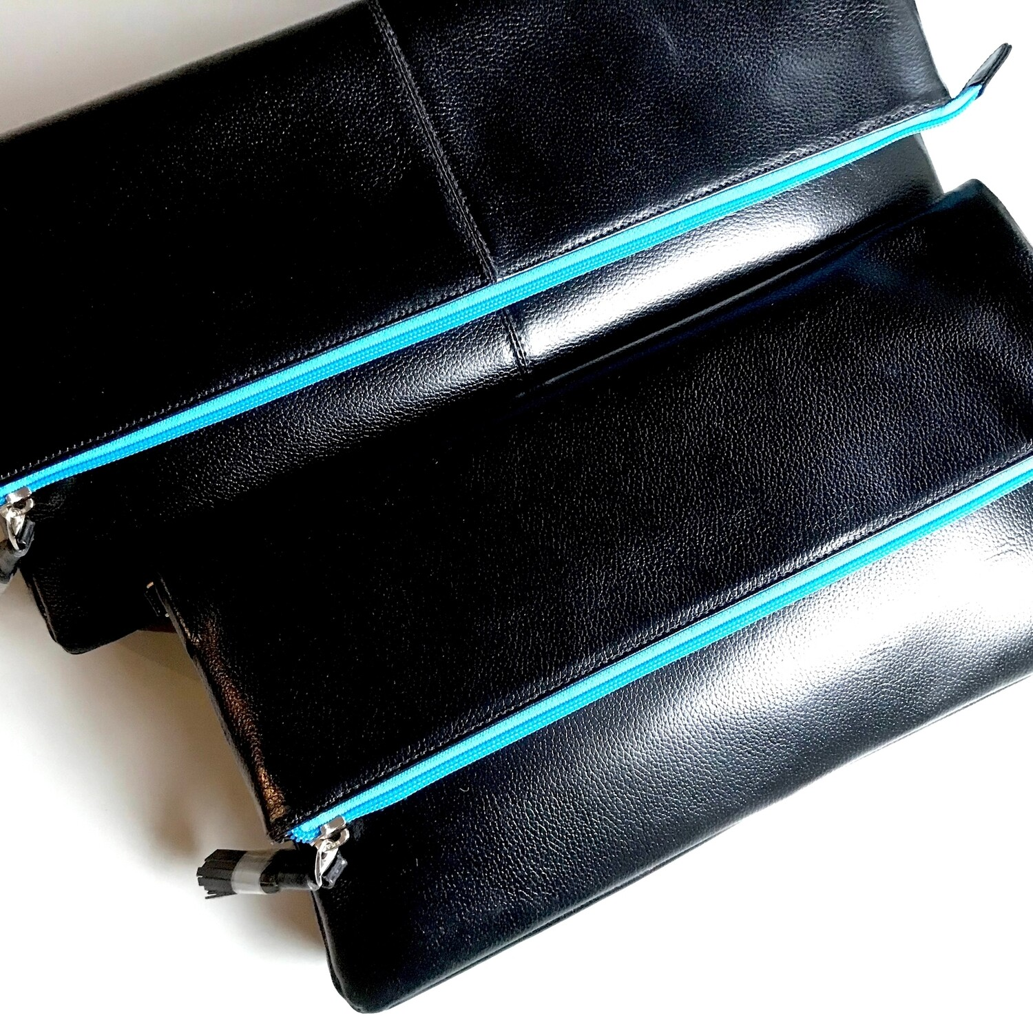 Day To Night Fold-Over Leather Clutch