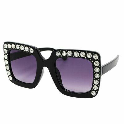 It's Time Square Crystal Sunglasses
