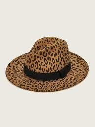 Leopard Fedora Hats