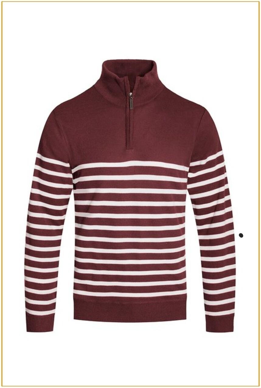 Men's Pullover Zipper Sweater