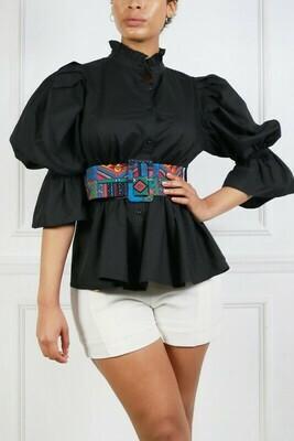 Women Ruffled mock neck blouse
