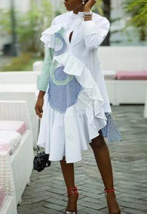 Feeling Like Sunday Morning Irregular Dress
