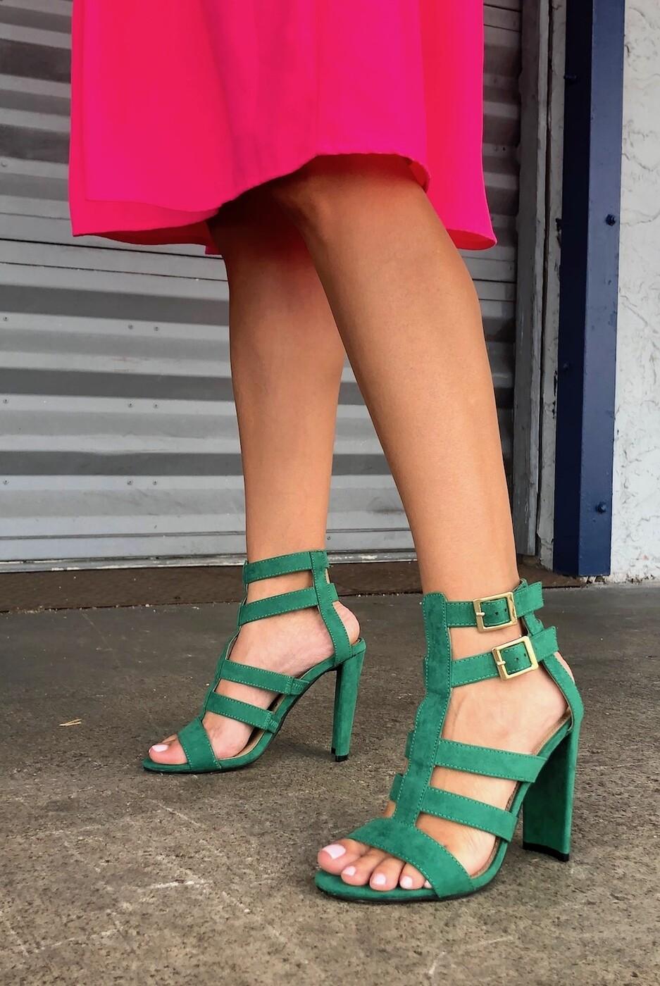 Dana Strapped Sandal Heel