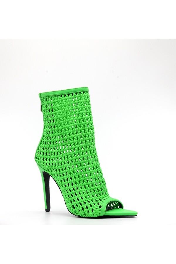 Women Weave High Heel Sandal Boot
