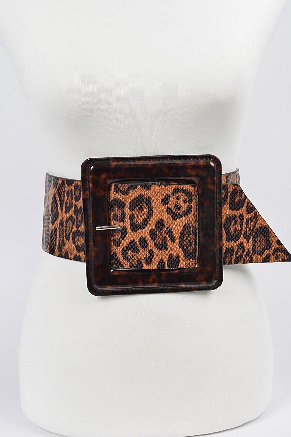 """""""Niki"""" Wide Leopard Belt"""