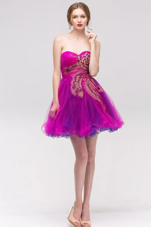 Semi-Sweetheart Dress w/Chiffon Shoulder Scarf
